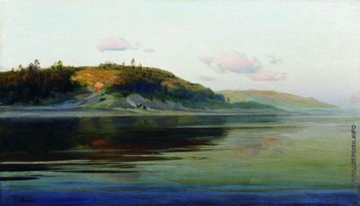 Левитан И. И. Летний вечер. Река. 1890-