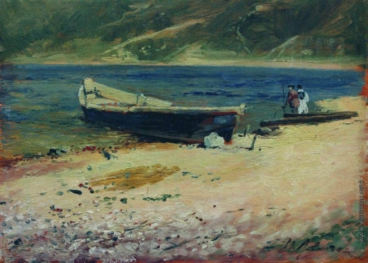 Левитан И. И. Лодка на берегу
