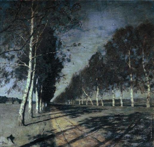 Левитан И. И. Лунная ночь. Большая дорога. 1897-