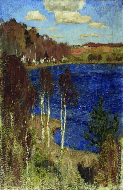 Левитан И. И. Озеро. Весна