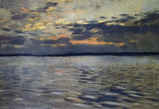 Левитан И. И. Озеро. Вечер
