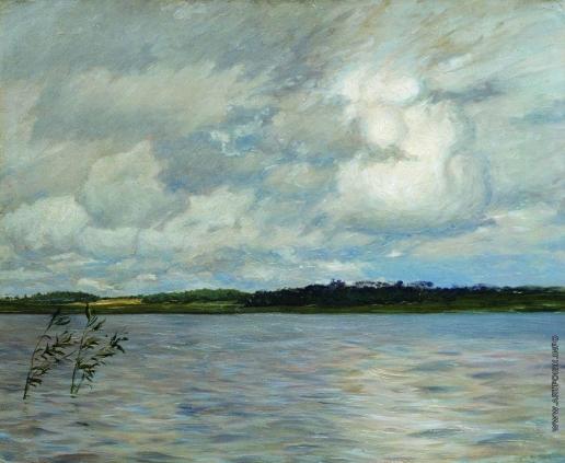 Левитан И. И. Озеро. Серый день