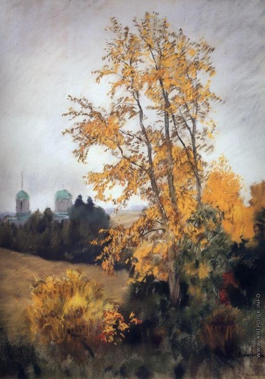 Левитан И. И. Осенний пейзаж с церковью