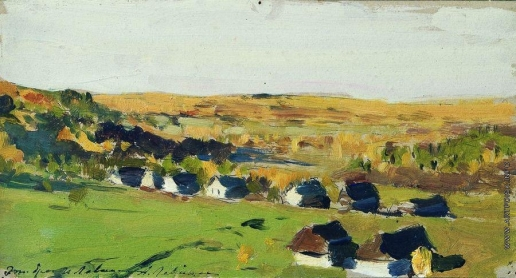 Левитан И. И. Осенний пейзаж. Деревня