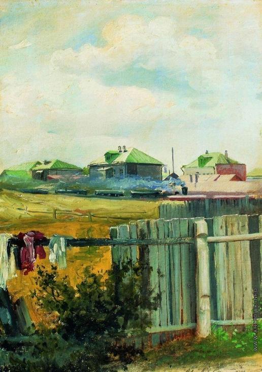 Левитан И. И. Пейзаж с забором