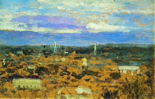 Левитан И. И. Пейзаж с монастырем
