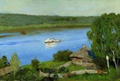 Левитан И. И. Пейзаж с пароходом