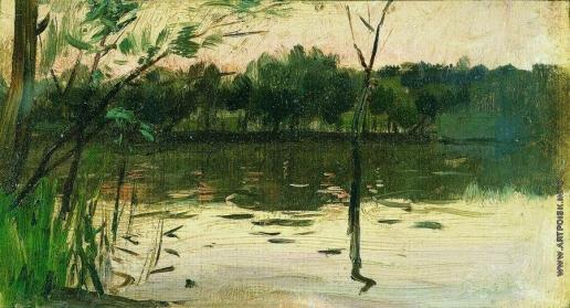 Левитан И. И. Пейзаж с розовым закатом
