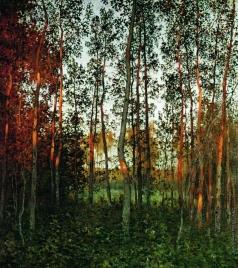 Левитан И. И. Последние лучи солнца. Осиновый лес