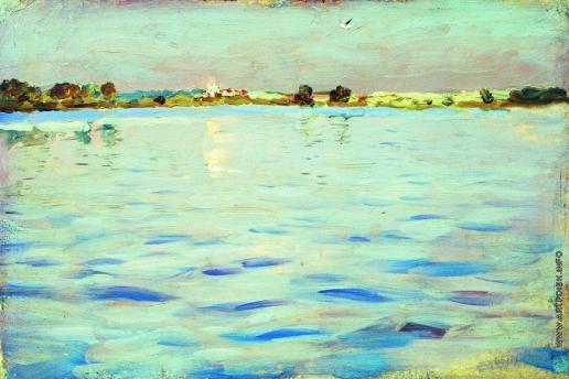 Левитан И. И. Последние лучи. Озеро. 1898-