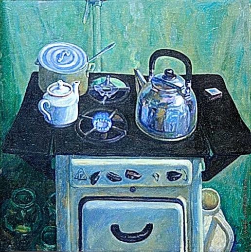 Абдуллин Р. М. Натюрморт с чайником