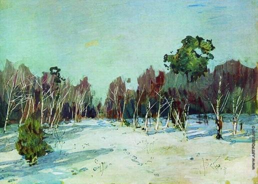 Левитан И. И. Сад в снегу