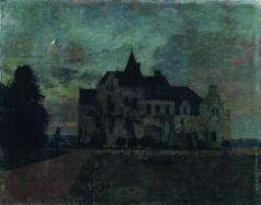 Левитан И. И. Сумерки. Замок