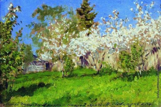 Левитан И. И. Цветущие яблони