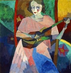 Лентулов А. В. Портрет. (Женщина с гитарой)