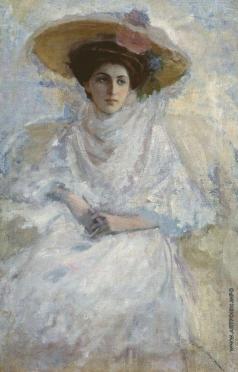 Леонтовский А. М. Дама в белом