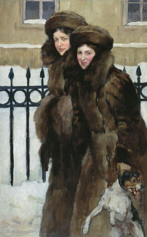 Любимов А. М. Портрет сестер Кравос