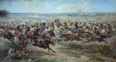 Мазуровский В. В. Атака лейб-гвардии Конного полка на французских кирасир в сражении под Фридландом 2 июня 1807 года