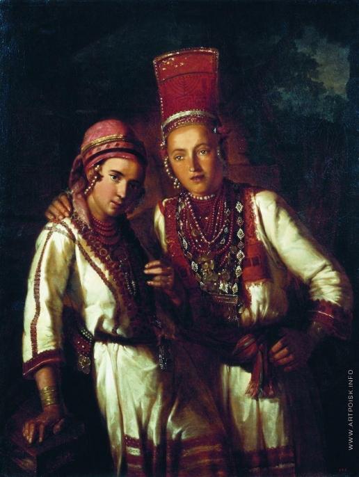 Макаров И. К. Две молодые мордовки