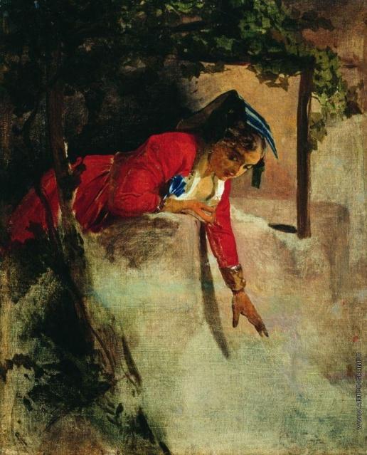 Макаров И. К. Итальянка на балконе. 1853–