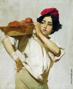 Макаров И. К. Итальянский разносчик. 1853–