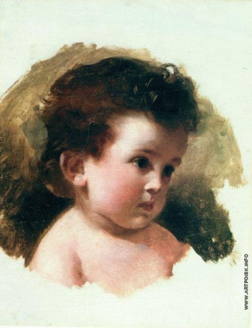 Макаров И. К. Портрет Е.И. Макаровой, дочери художника