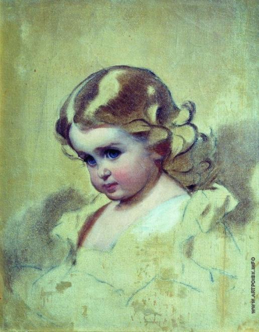 Макаров И. К. Портрет Нюты (А.И. Лебедева, рожденная Макарова, дочь художника)