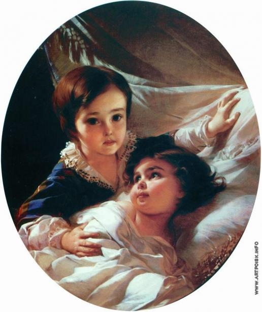 Макаров И. К. Портрет двух детей (из семьи Толстых)