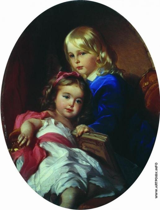Макаров И. К. Портрет детей художника