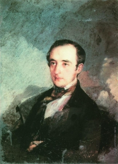 Макаров И. К. Портрет неизвестного в синем сюртуке (В.Ф.? Одоевский)