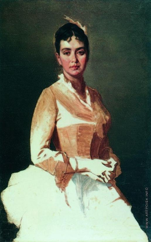 Макаров И. К. Портрет неизвестной (О.И. Макарова, дочь художника?)