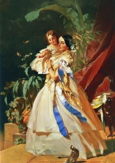 Макаров И. К. Портрет неизвестной с девочкой