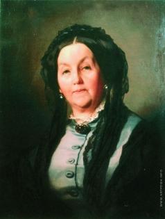 Макаров И. К. Портрет пожилой женщины в сером платье