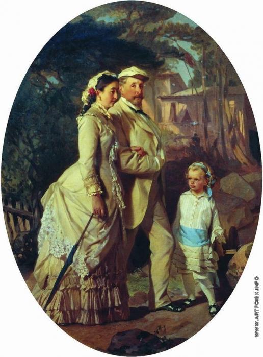Макаров И. К. Портрет семьи Черемисиновых