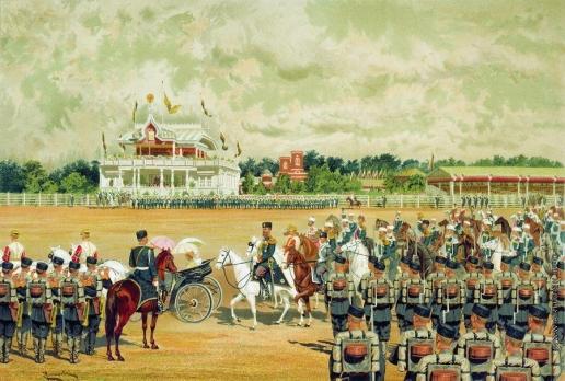 Макаров И. К. Прибытие государя на парад 15 мая 1883 года