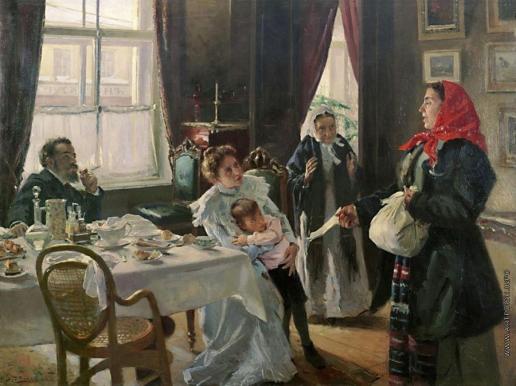 Маковский В. Е. Две матери. Мать приемная и родная. 1905-
