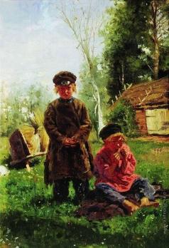 Маковский В. Е. Крестьянские мальчики