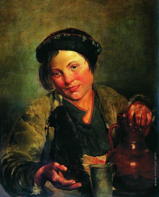 Маковский В. Е. Мальчик, продающий квас