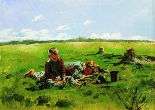 Маковский В. Е. Мальчики в поле