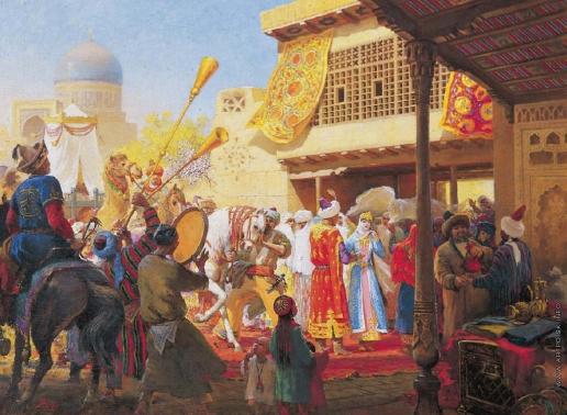 Абдулов И. А. Узбекская свадьба