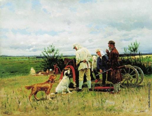 Маковский В. Е. Охотники на привале