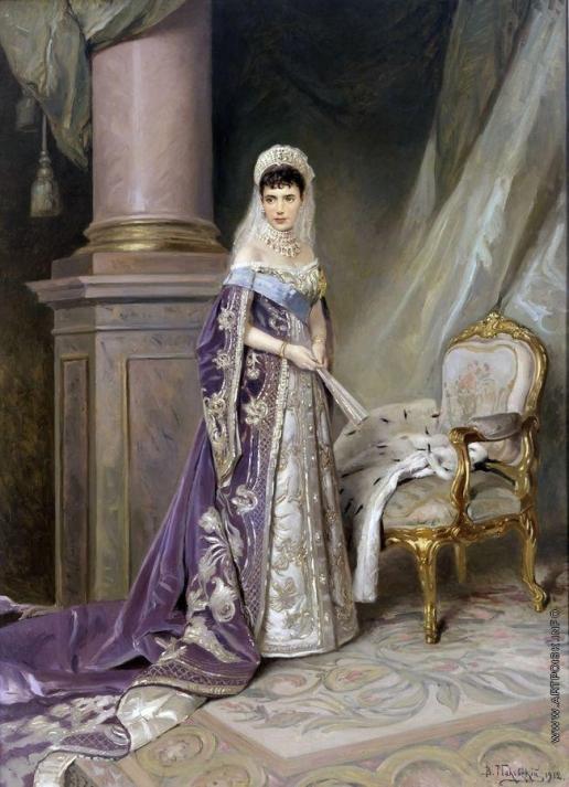 Маковский В. Е. Портрет императрицы Марии Фёдоровны, жены Александра III