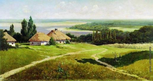 Маковский В. Е. Украинский пейзаж с хатами