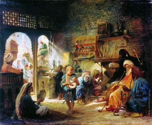 Маковский К. Е. В Каирской кофейне