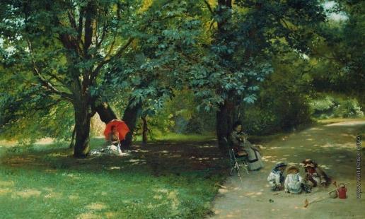 Маковский К. Е. В парке. Около