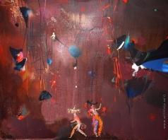 """Абдурахманов А. Н. Эскиз театральной декорации к опере Моцарта """"Волшебная флейта"""""""