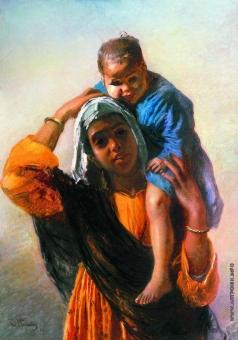 Маковский К. Е. Восточная женщина с ребенком