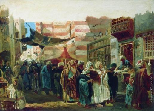 Маковский К. Е. Восточные похороны в Каире