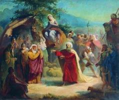 Маковский К. Е. Встреча Исаака с Елеазаром
