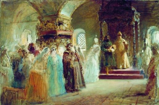 Маковский К. Е. Выбор невесты царем Алексеем Михайловичем